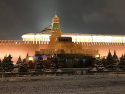 VIEW ON AWESOME RED SQUARE AND ITS AREA IN DECEMBER 2018.