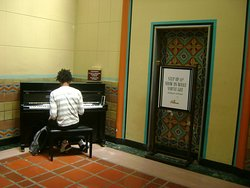 Free to use piano - a nice touch at Union Station