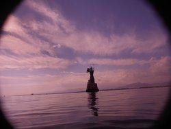 Phare à la sortie de l'eau à Jackson Reef