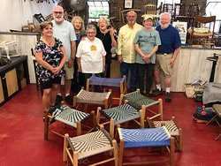 Group Photo with finished pieces at Silver River Chairs in CURVE Studios!