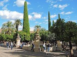 "The Mezquita's Patio de los Naranjos (""Patio of the Orange Trees""). (AlpinerHut)"