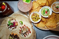 3 dips and chips, assortment of tacos, watermelon margarita and our Canadian classic.. The Caesar!