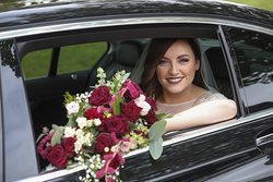 Thanks to the beautiful bride Michelle for sending on this stunning photo of her arriving to the church