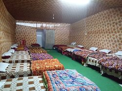 View of the dormitory : Sharang  with attached toilets that have hot & cold running water and very clean and neat.