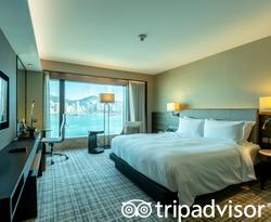 The Deluxe Harbour view Suite at the New World Millennium Hong Kong Hotel