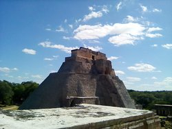 The west side of the pyramid of the magician
