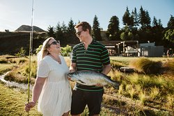 Catch your very own Chinook salmon from spring fed fishing lakes.