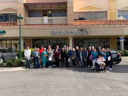 Large group at Escapology