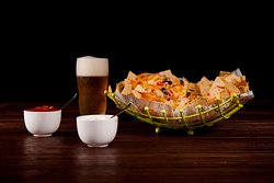 Nachos always pairs well with beer!