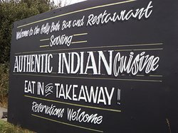 Our sign letting you know whats on offer.