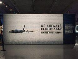 Entrance to US Airways Flight 1549 exhibit