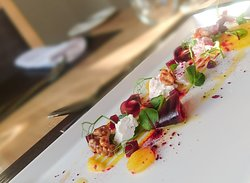 A feast for the eye. Beetroot, Goats Cheese, Walnut