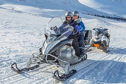 Snowmobiling near Tromso