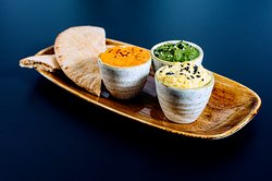 Hummus and trio of dips