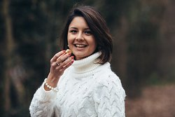 Sofia ed il suo cioccolatino all'aceto balsamico tradizionale di Modena DOP ed oro 22 carati