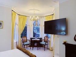 The Turret junior suite. A room with an all around view.