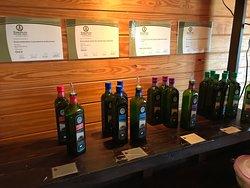 Olive oil tasting station