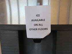 No ice machine on our floor