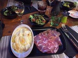 Tasty french dinner