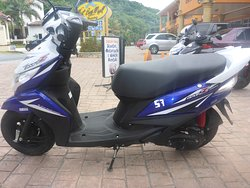 Yamaha XC115B scooter for rent. Please see our website for prices.