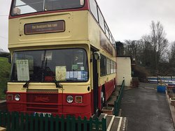The bus at the Boatyard, open for business 5 days a week - closed Monday and Tuesday