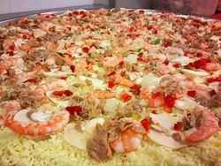 Pizza Atún Camaron