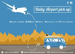 Daily 6:30 am shuttle from Tocumen airport to Playa Venao!