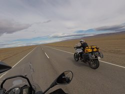 Crossing the plains of Patagonia