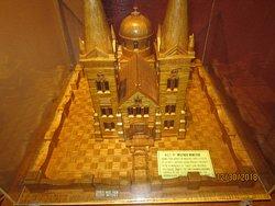 A church made of matchsticks