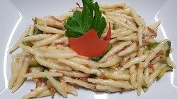 Strigoli speck e zucchine