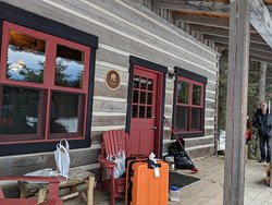 Wonderful rustic cabins in a winter wonderland