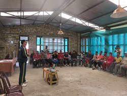 Class on Disaster Response by SDRF Uttarkashi at NDI Base camp Kuflon