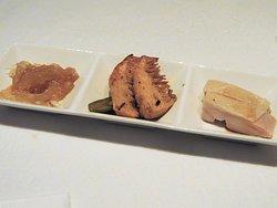 前菜3種盛(キクラゲ,冬筍,蒸し鶏)1人前