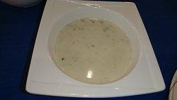 夕食のスープ。クラムチャウダー