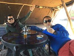 Teatime in Berber's camp