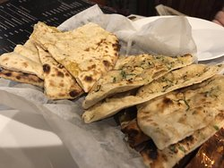 Left - Cheese Kulcha, Right - Garlic Naan