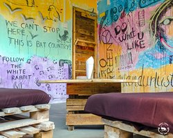 Smoking Lounge and Wall Art