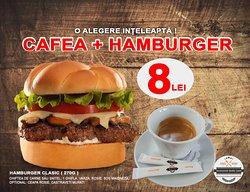 cafea + hamburger