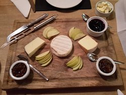 Cheese board for three.  A different selection every night!