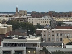 Among the greatest views in the Lowcountry from the Hotel Bennett rooftop.