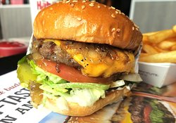 Even the single burger is a good sized burger, juicy!