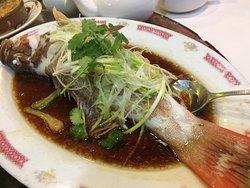 steamed fresh fish