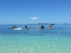 Jet skis heading out