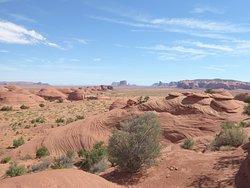 una de las paradas donde se puede ver la extensión de las tierras de los navajos