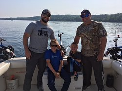 Father, son fishing teams!