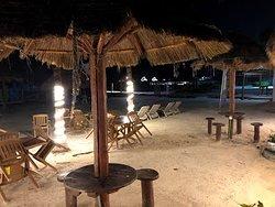 Beachfront at night