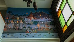 Mural of old Chiang Mai