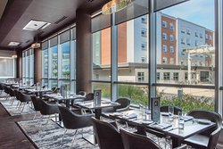 Twenty8 Restaurant Dining Room with Views of Patriot Place.