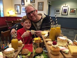 Afternoon tea with the children