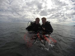 During and after our dive